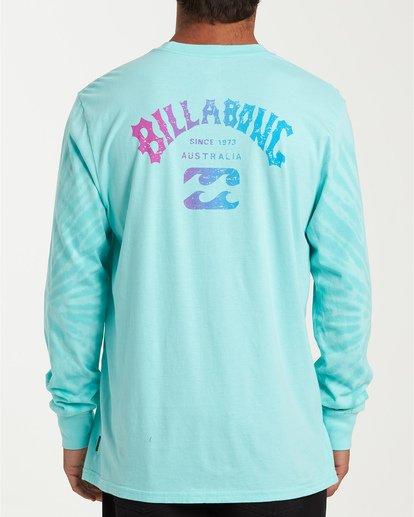 2 Arch Tie-Dye Long Sleeve T-Shirt Blue M426WBAT Billabong