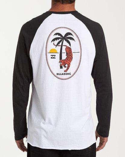 2 Tiger Palm T-Shirt White M427WBTP Billabong