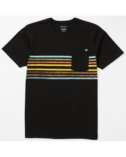 1 Spinner Pocket T-Shirt Black M431SBST Billabong