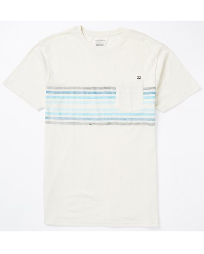 0 Spinner Pocket T-Shirt White M431SBST Billabong