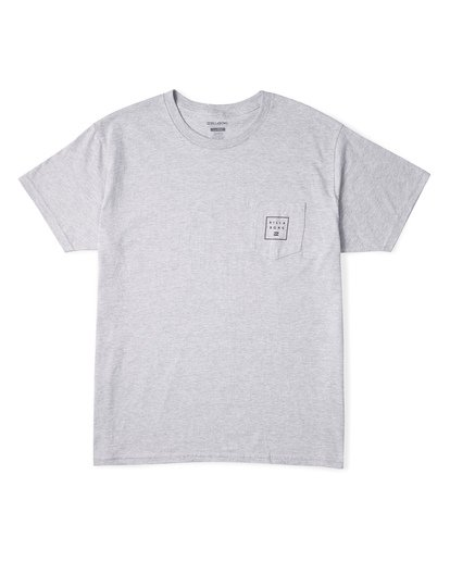2 Stacked Essential Pocket Short Sleeve T-Shirt Grey M431WBSE Billabong