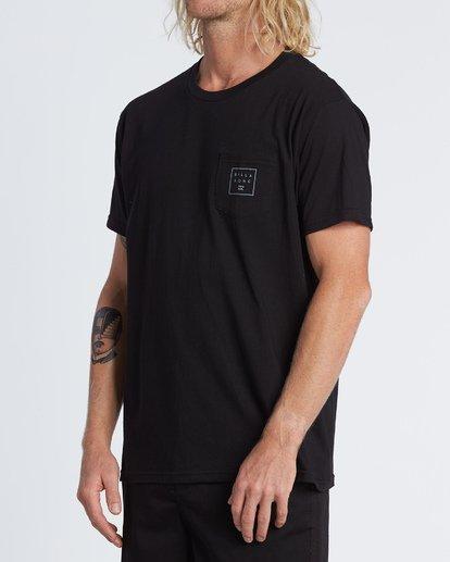 1 Stacked Essential Pocket Short Sleeve T-Shirt Black M431WBSE Billabong