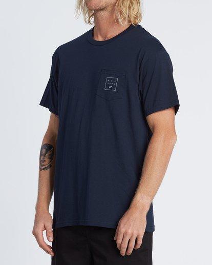 1 Stacked Essential Pocket Short Sleeve T-Shirt Blue M431WBSE Billabong