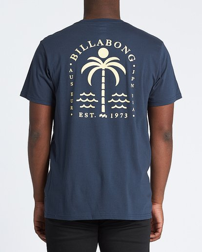2 Schooner Short Sleeve T-Shirt Blue M4331BCH Billabong