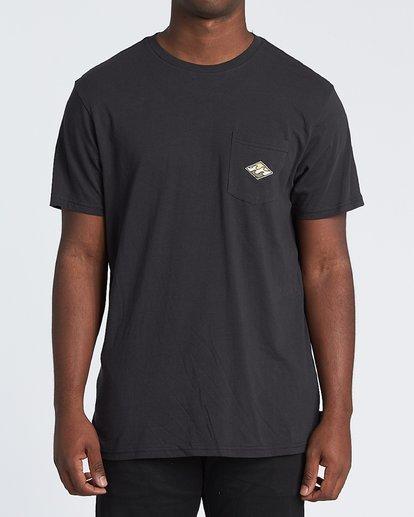 2 High Noon Short Sleeve T-Shirt Black M4331BHN Billabong