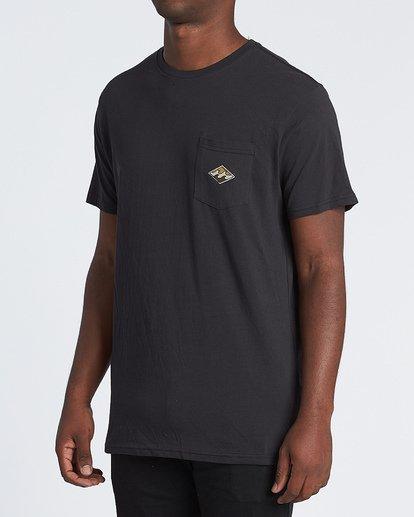 1 High Noon Short Sleeve T-Shirt Black M4331BHN Billabong