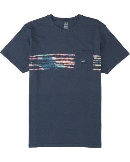 3 Riot Short Sleeve T-Shirt Blue M4331BRI Billabong