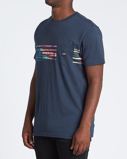 1 Riot Short Sleeve T-Shirt Blue M4331BRI Billabong