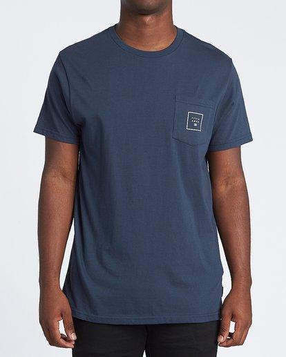 2 Stacked Fill Short Sleeve T-Shirt Blue M4331BSF Billabong