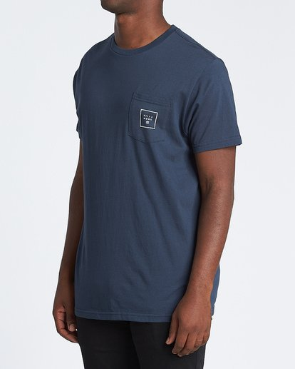 1 Stacked Fill Short Sleeve T-Shirt Blue M4331BSF Billabong