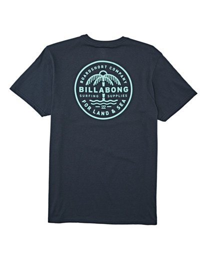 4 Coast To Coast Pocket Short Sleeve T-Shirt Blue M4332BCC Billabong