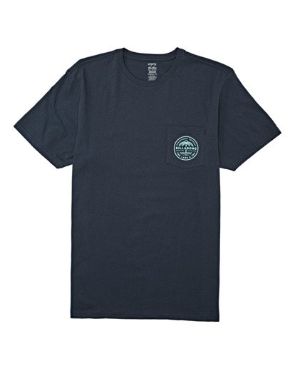 3 Coast To Coast Pocket Short Sleeve T-Shirt Blue M4332BCC Billabong