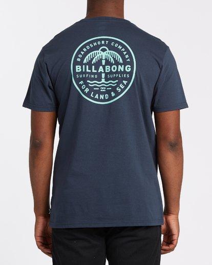 2 Coast To Coast Pocket Short Sleeve T-Shirt Blue M4332BCC Billabong