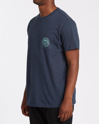 1 Coast To Coast Pocket Short Sleeve T-Shirt Blue M4332BCC Billabong