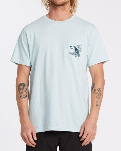 0 Dominical Pocket Short Sleeve T-Shirt Blue M4332BDO Billabong