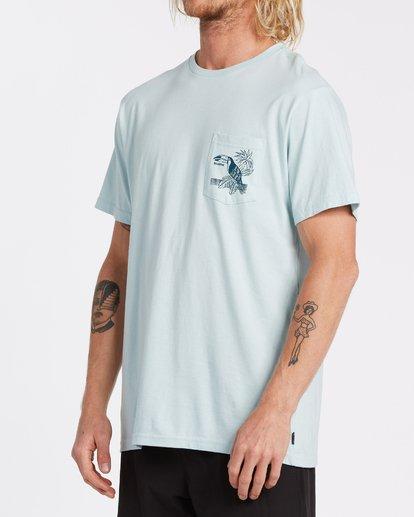 1 Dominical Pocket Short Sleeve T-Shirt Blue M4332BDO Billabong