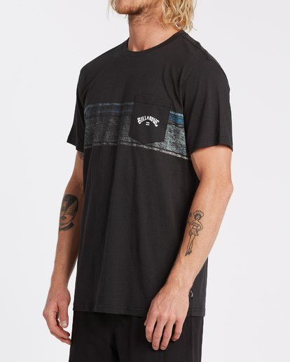1 Spinner Pocket Short Sleeve T-Shirt Black M4332BSP Billabong