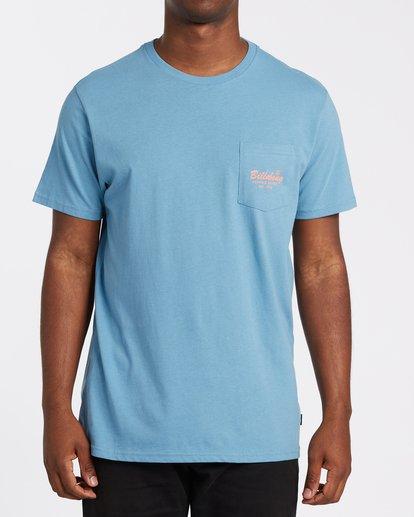 0 Surfing Goods Short Sleeve Pocket T-Shirt Grey M4332BSU Billabong