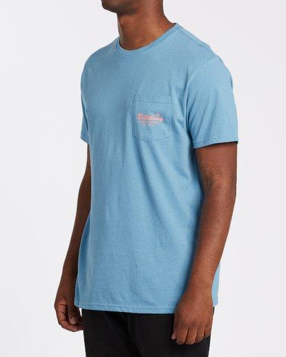 1 Surfing Goods Short Sleeve Pocket T-Shirt Grey M4332BSU Billabong