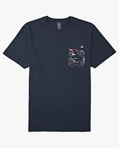 7 Team Pocket Short Sleeve T-Shirt Blue M4332BTP Billabong
