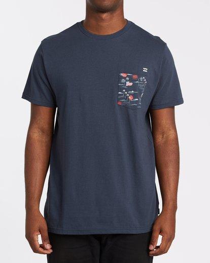 0 Team Pocket Short Sleeve T-Shirt Blue M4332BTP Billabong