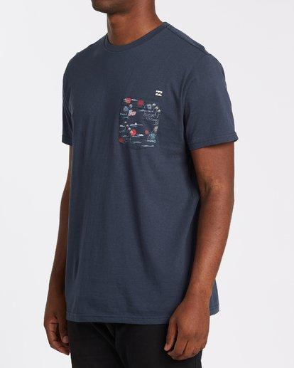 1 Team Pocket Short Sleeve T-Shirt Blue M4332BTP Billabong