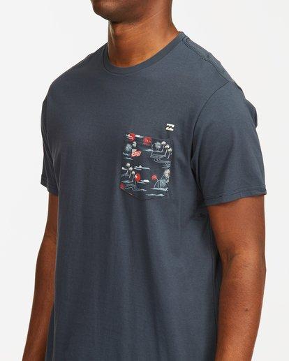 6 Team Pocket Short Sleeve T-Shirt Blue M4332BTP Billabong