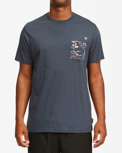 3 Team Pocket Short Sleeve T-Shirt Blue M4332BTP Billabong