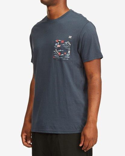 4 Team Pocket Short Sleeve T-Shirt Blue M4332BTP Billabong