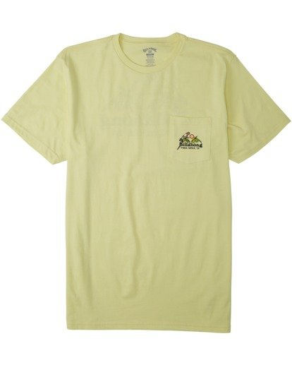 3 Calm T-Shirt Yellow M4333BCA Billabong
