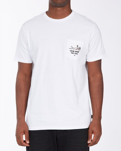 0 Calm T-Shirt White M4333BCA Billabong