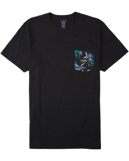 0 Team Pocket T-Shirt Black M4333BTE Billabong