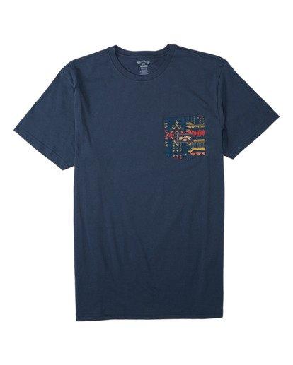 0 Team Pocket T-Shirt Blue M4333BTE Billabong
