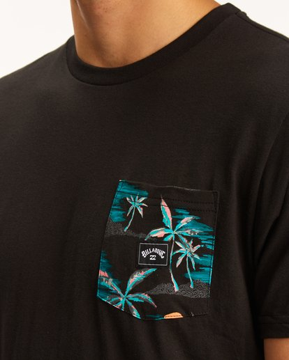 3 Team Pocket T-Shirt Black M4333BTE Billabong