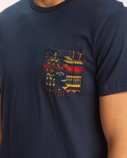 3 Team Pocket T-Shirt Blue M4333BTE Billabong