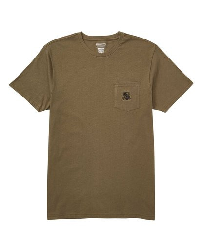 0 Division T-Shirt Green M433TBDI Billabong
