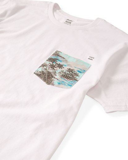 2 Team Pocket T-Shirt White M433UBTE Billabong