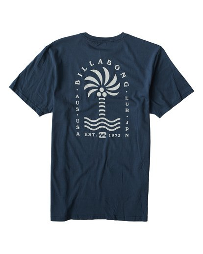 1 Palmspin T-Shirt Blue M433VBPS Billabong