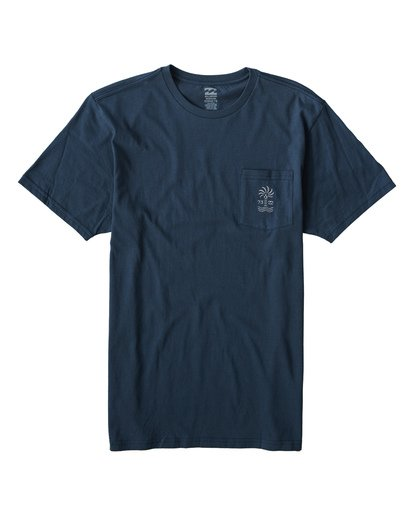 0 Palmspin T-Shirt Blue M433VBPS Billabong