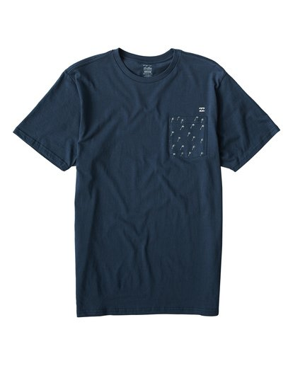 0 Teampocket Mini T-Shirt Blue M433VBTM Billabong