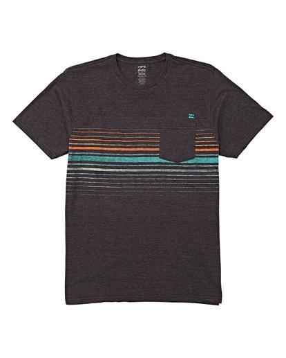 3 Lowtide Short Sleeve T-Shirt Black M433WBLT Billabong