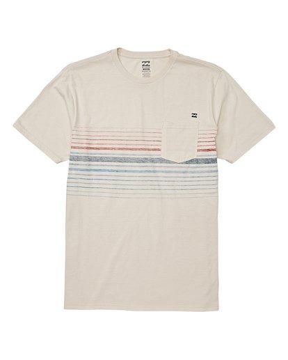 3 Lowtide Short Sleeve T-Shirt Brown M433WBLT Billabong
