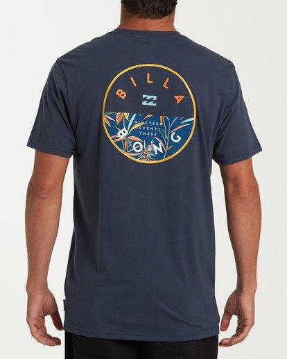 2 Rotor Pocket Short Sleeve T-Shirt Blue M433WBRP Billabong