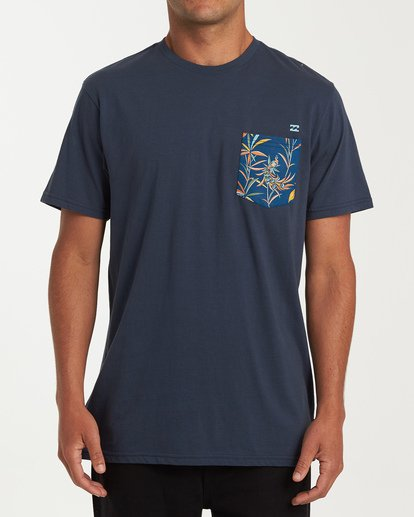 0 Rotor Pocket Short Sleeve T-Shirt Blue M433WBRP Billabong