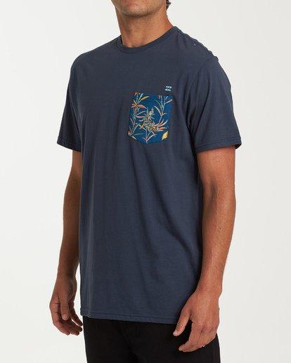 1 Rotor Pocket Short Sleeve T-Shirt Blue M433WBRP Billabong
