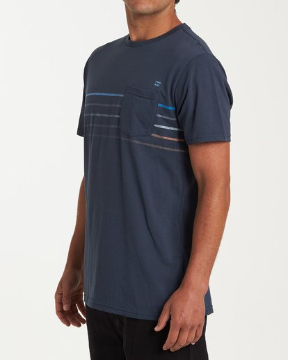 1 Spinner Short Sleeve T-Shirt Blue M433WBSP Billabong