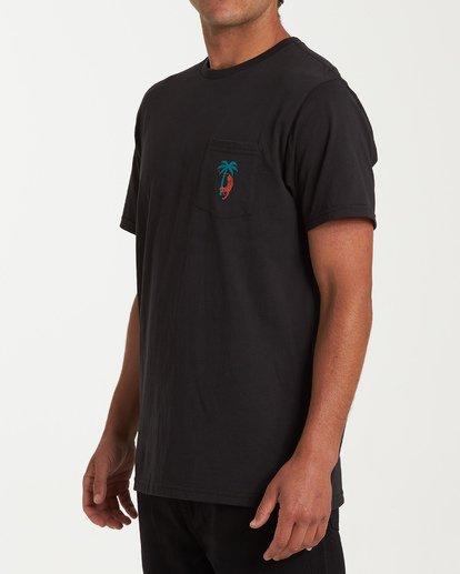 1 Tigerpalm Short Sleeve T-Shirt Black M433WBTI Billabong