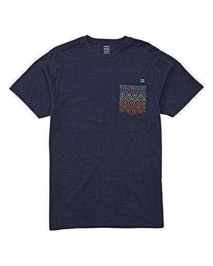 3 Team Pocket Short Sleeve T-Shirt Blue M433WBTP Billabong