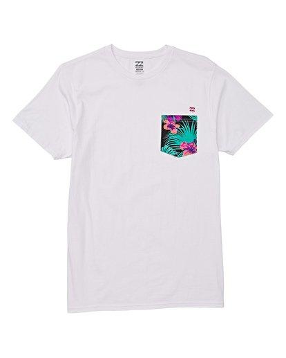 3 Team Pocket Short Sleeve T-Shirt White M433WBTP Billabong