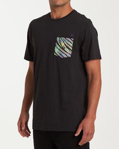 1 Team Pocket Short Sleeve T-Shirt Black M433WBTP Billabong